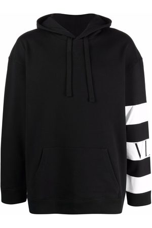 VALENTINO Men Hoodies - Striped logo hoodie
