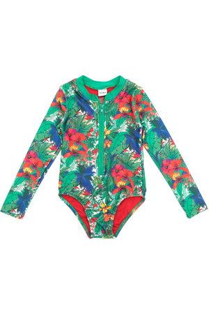 AMIR SLAMA Girls Swimsuits - Printed long sleeves swimsuit