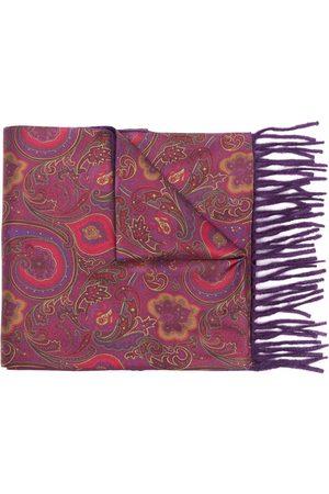 Etro Men Scarves - Paisley-print silk cashmere scarf