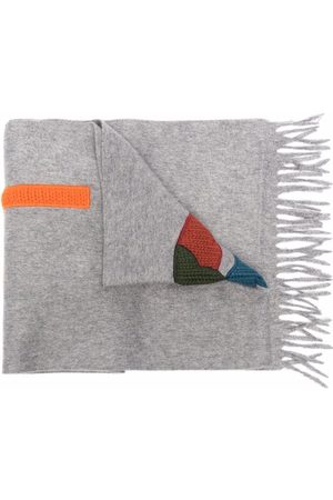 Etro Long logo-patch scarf - Grey