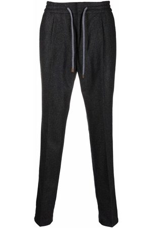 Brunello Cucinelli Pleated drawstring trousers - Grey