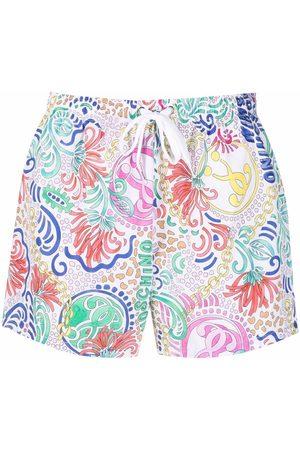 Moschino Men Swim Shorts - Paisley-print swim shorts