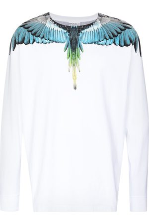 MARCELO BURLON Wings-print long-sleeve T-shirt