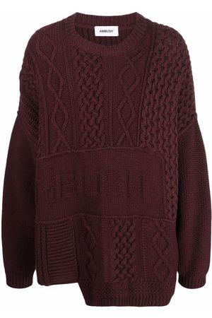 AMBUSH Sweatshirts - PATCHWORK CREWNECK CHOCOLATE TORTE CHOC