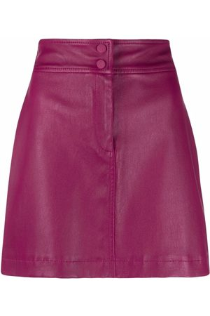 Alberta Ferretti A-line leather skirt
