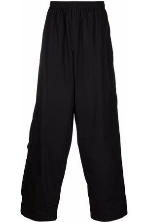 Balenciaga Men Wide Leg Pants - Elasticated-waistband wide-leg trousers