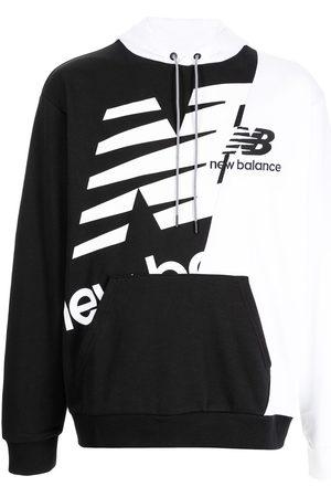 New Balance Two-tone logo-print hoodie