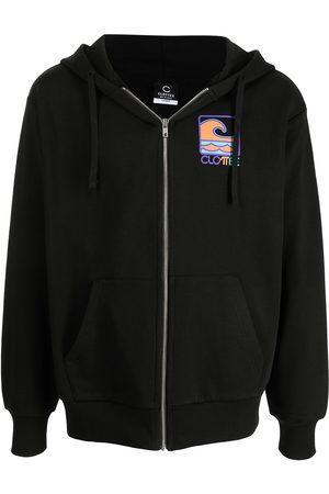 CLOT Men Hoodies - Logo-print zipped hoodie