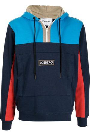 Iceberg Men Sweatshirts - Colourblock hooded sweatshirt