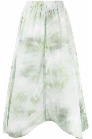 Ganni Women Printed Skirts - Tie-dye print A-line skirt