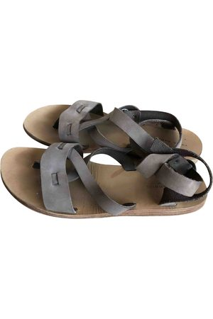 Valia Gabriel Women Sandals - Grey Leather Sandals