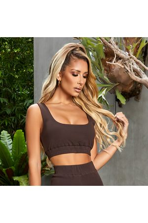 simmi.com You're A Softie Chocolate Ruched Bralet