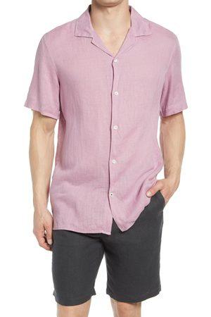 NN.07 Men's Miyagi 5706 Short Sleeve Button-Up Linen Camp Shirt