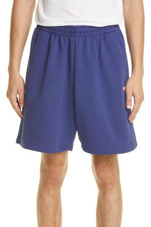 Balenciaga Men's Campaign Logo Cotton Shorts