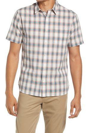 Vince Men's Shadow Plaid Short Sleeve Button-Up Shirt