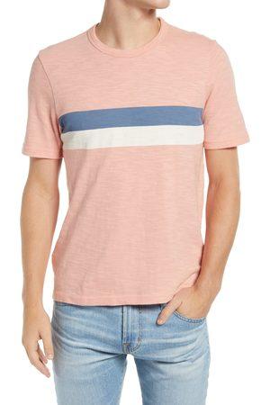 Faherty Men's Placed Stripe Slub Cotton T-Shirt
