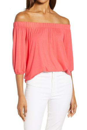 Loveappella Women's Solid Off The Shoulder Top
