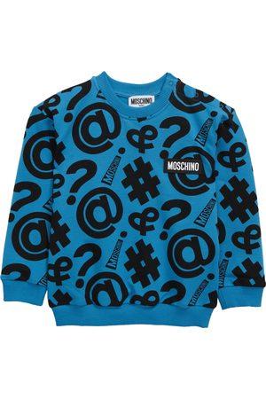 Moschino Infant Symbol Logo Stretch Cotton Sweatshirt