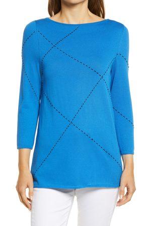 Ming Wang Women's Stitch Accent Tunic Sweater