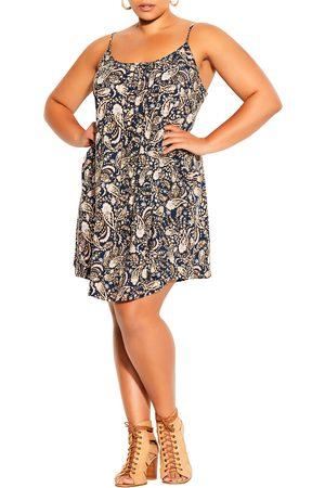 City Chic Plus Size Women's Sunshine Paisley Minidress
