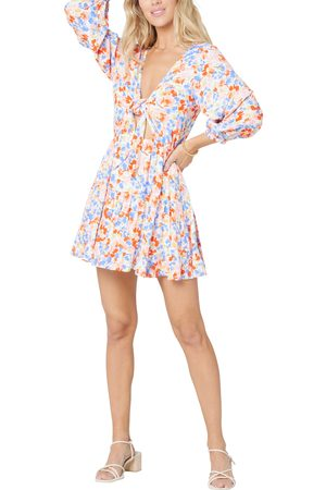 L*Space Women's Stay Golden Tie Front Cover-Up Dress