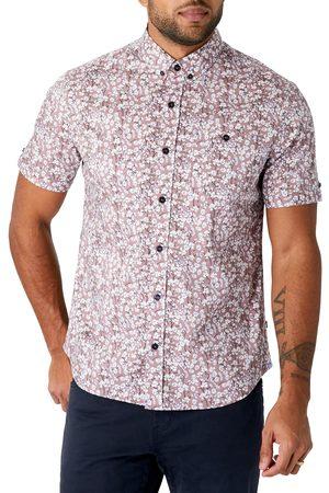 7 Diamonds Men's Still Standing Floral Short Sleeve Stretch Button-Down Shirt