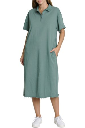 Pistola Women's Pia Raw Hem Cotton Polo Dress