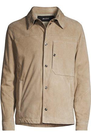Z Zegna Suede Shirt Jacket