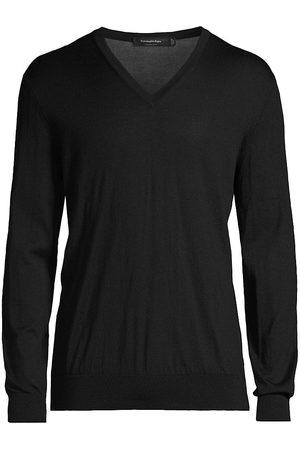 Ermenegildo Zegna Cashseta Cashmere & Silk V-Neck Sweater