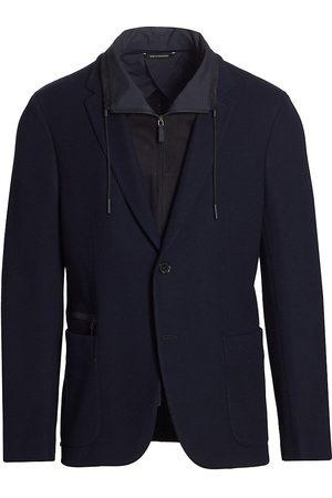Ermenegildo Zegna Layered Wool Jersey Jacket
