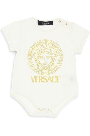 VERSACE Baby's Jersey Logo Medusa-Print Bodysuit