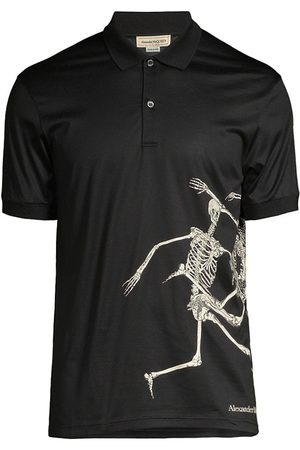 Alexander McQueen Skeleton Print Polo Shirt