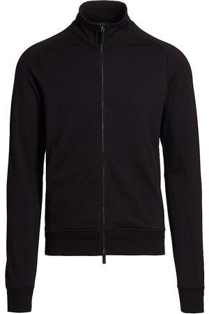 Ermenegildo Zegna Mockneck Cotton Zip-Up Sweatshirt