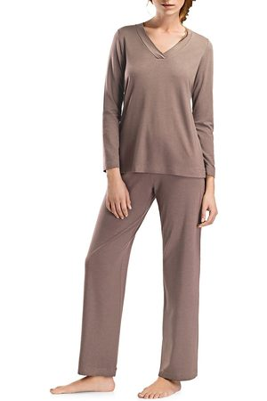 Hanro Champagne Long-Sleeve Pajama Set
