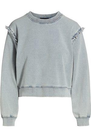 Generation Love Zoe Denim Ruffle Sweatshirt