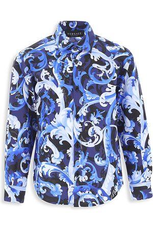 VERSACE Little Boy's & Boy's Baroccoflage-Print Shirt