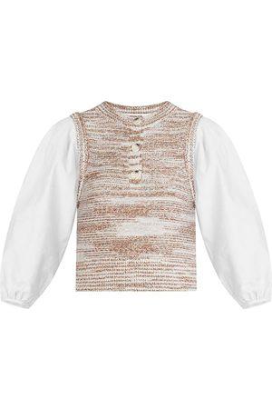 VERONICA BEARD Tahlea Puffed-Sleeve Sweater