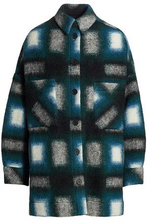IRO Harwel Plaid Shirt Jacket