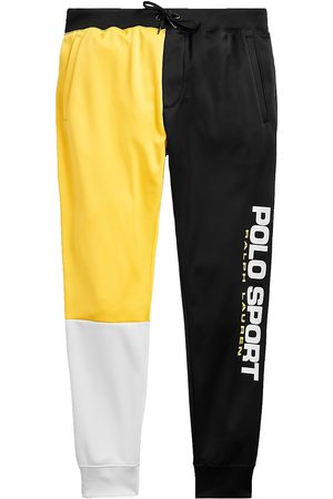 Polo Ralph Color-Blocked Fleece Drawstring Sweatpants