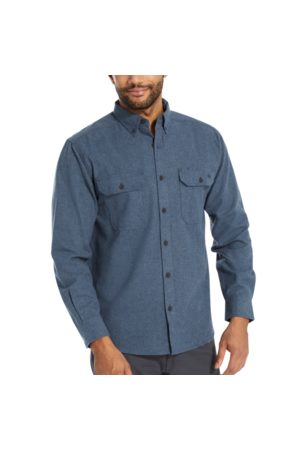 Wolverine Men Long sleeves - Men's Glacier Midweight Long Sleeve Flannel Shirt Navy Heather, Size L