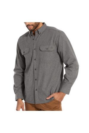 Wolverine Men's Glacier Midweight Long Sleeve Flannel Shirt Charcoal Heather, Size L
