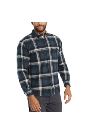 Wolverine Glacier Heavyweight Long Sleeve Flannel Shirt Plaid, Size L