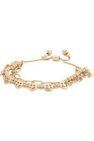 petit moments Happy Bracelet in Metallic .