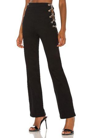 EB Denim Women Straight Leg Pants - New Chain Pant in .