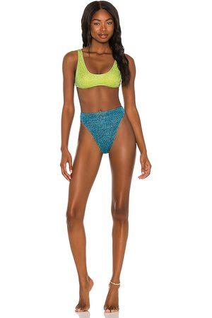 Oseree Lumiere 90s Sporty Two Piece Bikini Set in , .