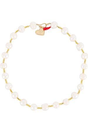 Mercedes Salazar Perlas Unidas Necklace in White.