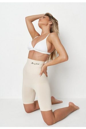 Missguided Nude Sand Light Control Lingerie Shorts