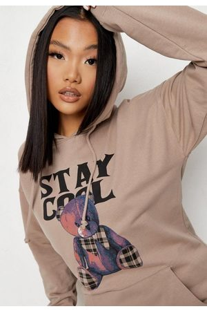 Missguided Sand Stay Cool Graphic Fleeceback Hoodie