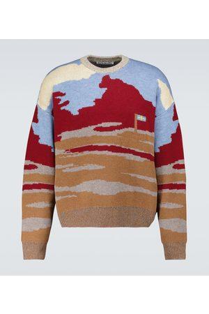 Acne Studios Men Sweatshirts - Jacquard crewneck sweater