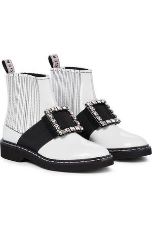 Roger Vivier Viv' Rangers brushed leather Chelsea boots